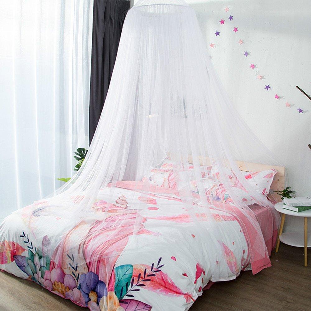 DASENLIN Moskitonetz Dome Landing Princess Bett Vorhang Encrypted Doppelzimmer Einzel Bill Weiß Bett.