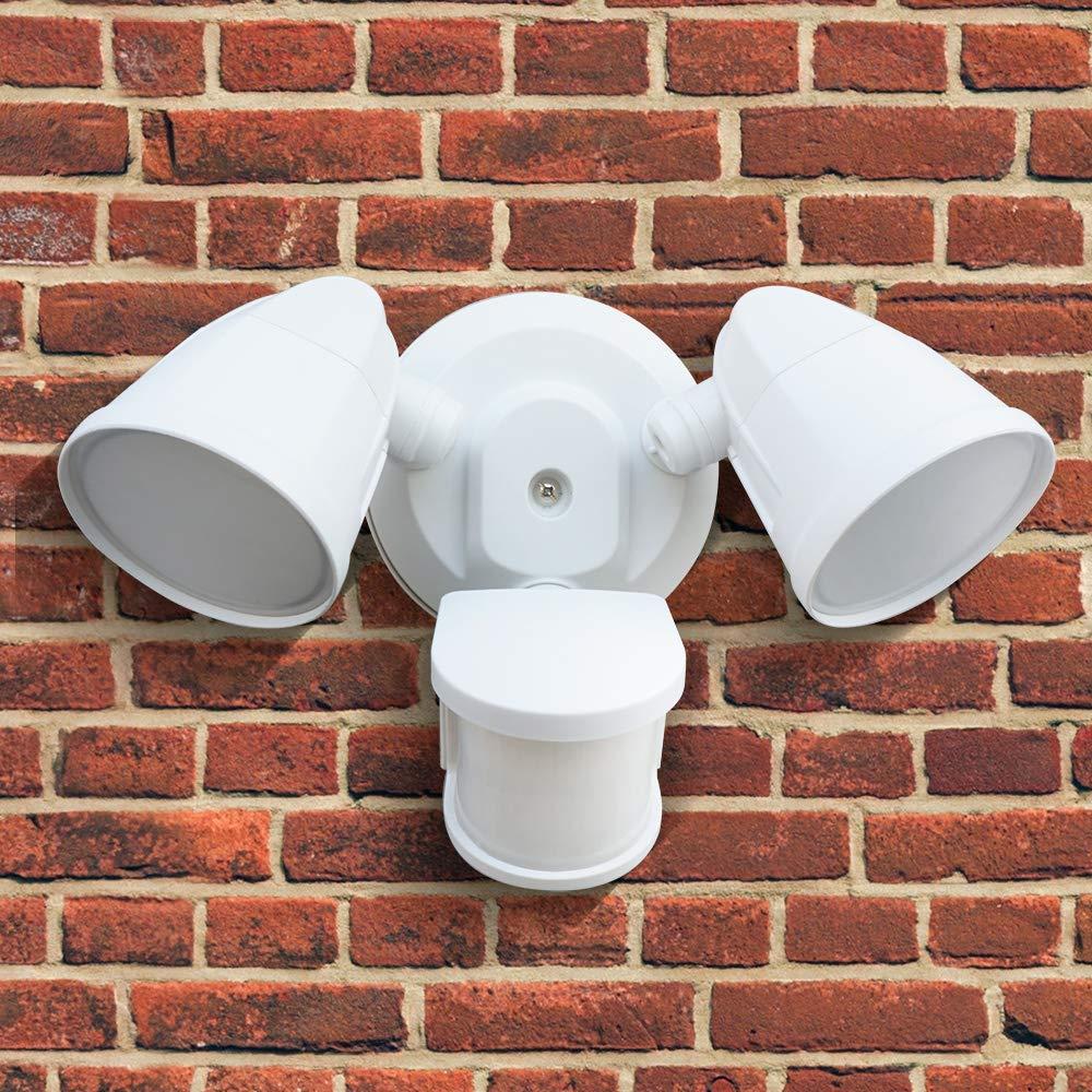 Viereckiger Kopf 2200LM 240/° Erfassungswinkel IP65 Wasserdichtes Flutlicht 5000K Tageslichtwei/ß STASUN 32W LED Strahler mit einstellbarem Bewegungsmelder