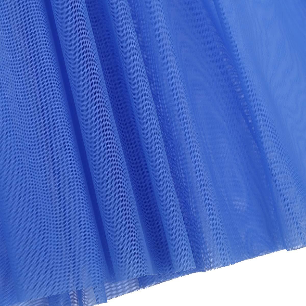 ranrann Longue Robe Danse Classique Justaucorps Fille Enfant Robe Danse Latine Jazz Rumba Zumba Salsa Cancan Dancewear Mock Neck Robe Soir/ée Coctail Bal Performance 8-16 Ans