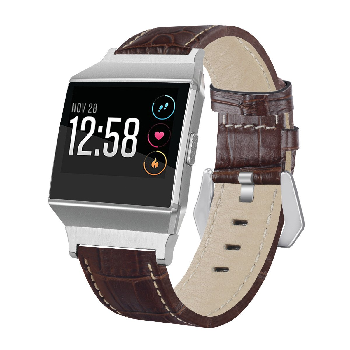 For Fitbit Ionic Bands, Genuine Leather Replacement Watch Band/Wristband Accessory For Fitbit Ionic