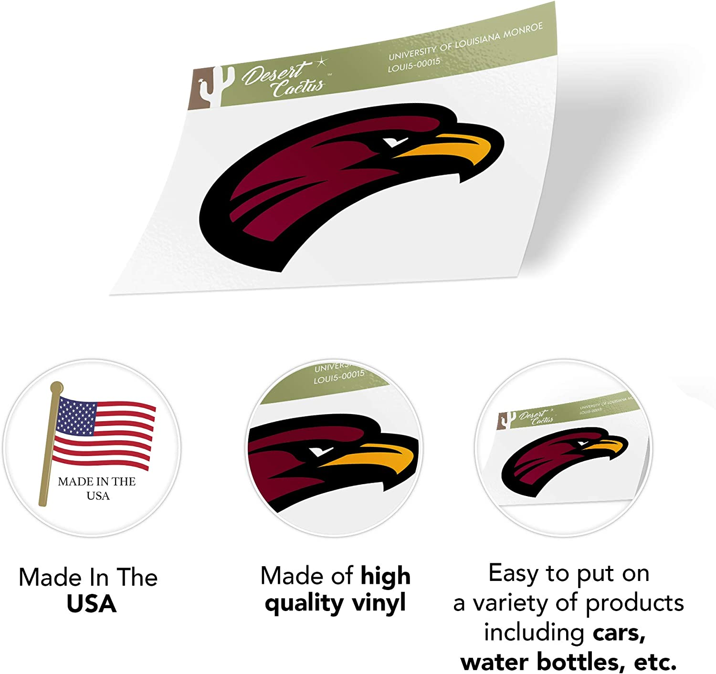 University of Louisiana Monroe ULM Warhawks NCAA Vinyl Decal Laptop Water Bottle Car Scrapbook Sticker - 00015