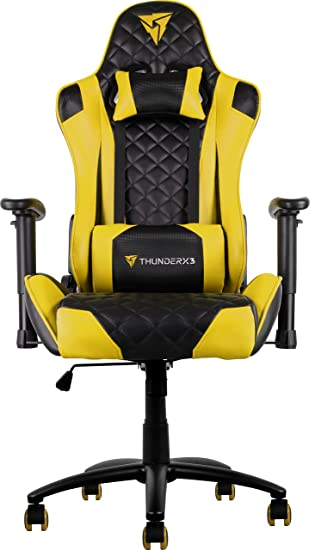 ThunderX3 Spain TGC12BY Sillas Gaming Profesional, Amarillo