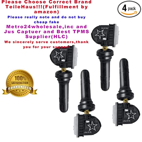 TeileHaus 4PCS GM 315MHZ TPMS Tire Pressure Monitoring System Sensor 13598771 13598772 13581558 13586335 Fits for