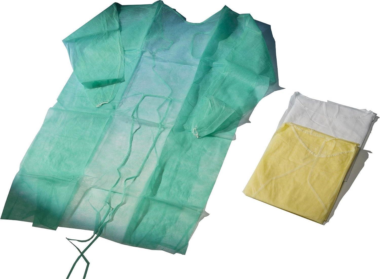 meditrade 100 beesana - Bata - de tela no tejida de polipropileno (PP) 23 g/m2 - Verde 110 x 140 cm: Amazon.es: Salud y cuidado personal