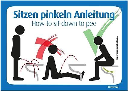 4 x WC instrucciones de uso para sentado pinkeln - como Man ...