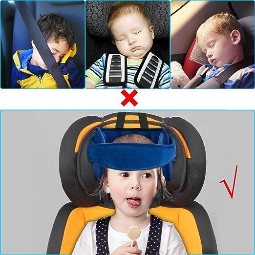 Luchild Kindersitz Kopfband einstellbare Autositz Kopfband Sicherheitssitz Kopfst/ütze Kopfst/ützgurt f/ür Autositz