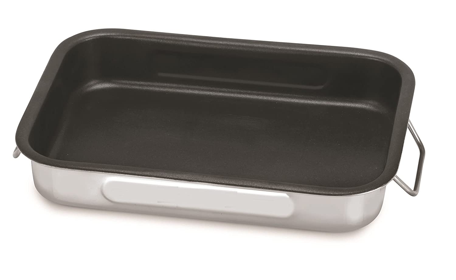 Chef Direct Stainless Steel Non Stick Roast Pan with Folding Handles //Rectangular Lasagna Pan for Baking, Grilling, Roasting // OTG Oven Safe (Length 35cm X Width 24cm)