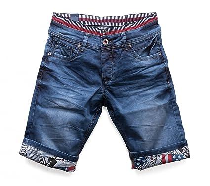 Herren Jeans Shorts Bermuda Hose Walkshort Waschung, Farben Blau, Größe  Shorts W29 f6019d25f1