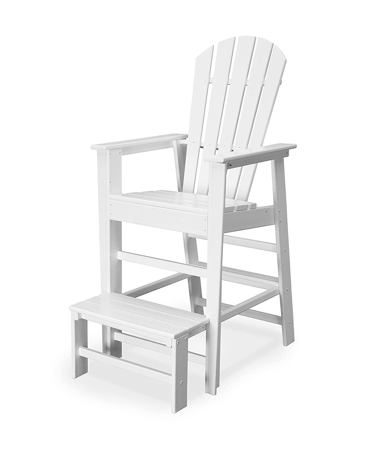 55c18a4cbac Amazon.com   POLYWOOD SBL30WH South Beach Lifeguard Chair