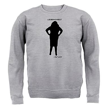 Lesbihonest - Fat Amy - Unisex Pullover/Sweatshirt - Grau meliert - S