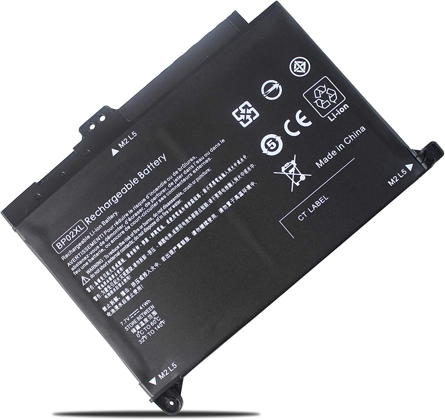 41Wh BP02XL Laptop Battery Replacement for HP 849909-850 849909-855 849569-421 TPN-Q172 HP Pavilion 15-AU063CL 15-AU123CL 15-AU010WM 15-AU018WM 15-AU020WM 15-AW053NR 15-AU062NR