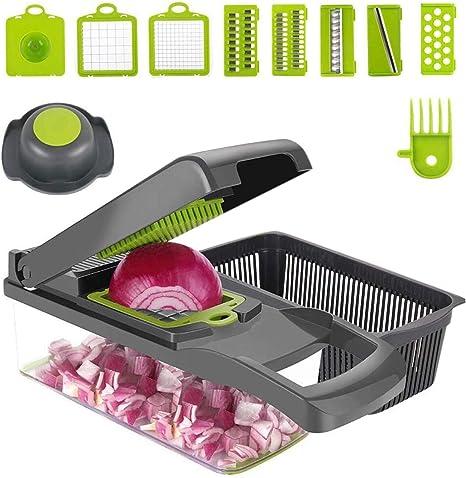 7 In1 Food Vegetable Salad Fruit Peeler Cutter Slicer Dicer Chopper Kitchen Tool