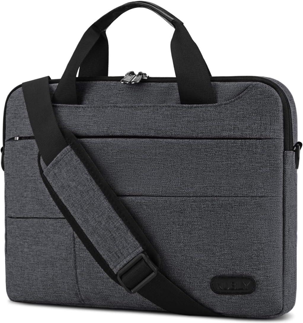 Laptop Bag for Men 13.3/14 inch Computer Sleeve Carrying Surface Laptop Case Water Repellent Briefcase Work Business Messenger Shoulder Bag Tablet Handle Case, Notebook Dark Grey