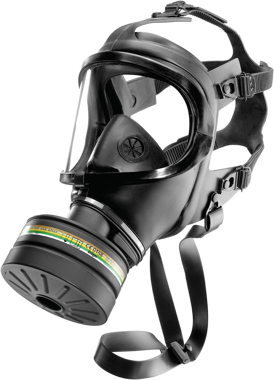 Dräger CDR 4500 con Filtro A2B2E2K2 P3 R D/NBC | Alta protección | Máscara Completa para Emergencias y catástrofes | con Filtro Rd40