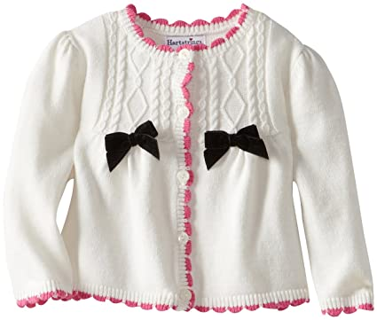 17e6a008e Amazon.com  Hartstrings Newborn Baby Girl Cotton Sweater Cardigan ...