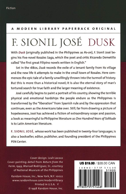 Amazon com: Dusk: A Novel (Modern Library (Paperback
