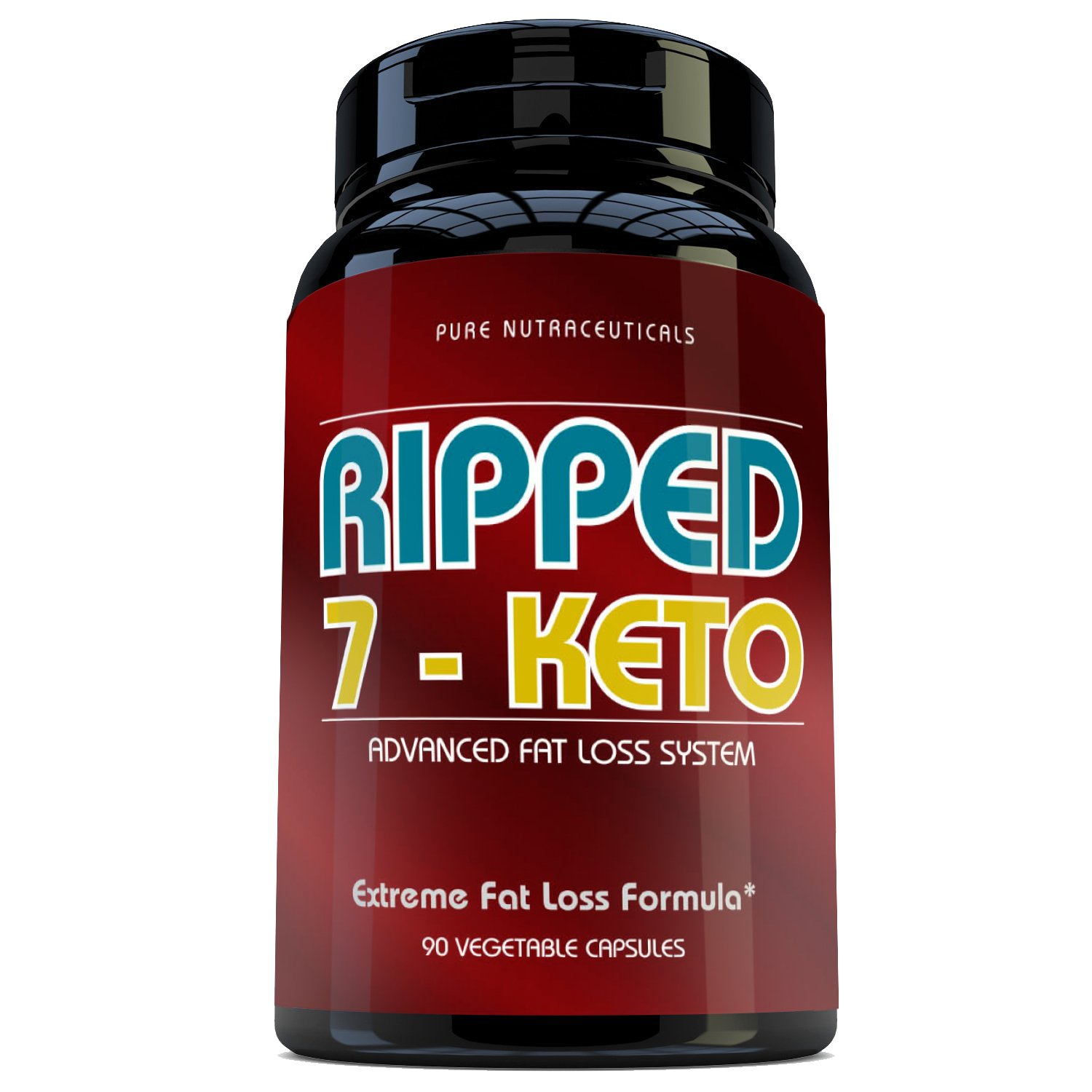 7 Keto 100 mg - 90 Vegetable capsules - complete weight loss system that includes all the Vitamin B, Folic Acid, Biotin, Chromium, Green Tea, and Caffeine