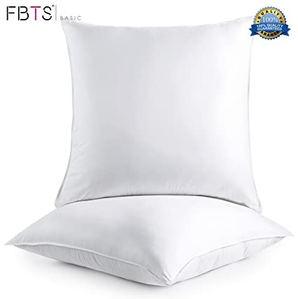 Amazon FBTS Basic Pillow Insert 40 Packs 40x40 Inch Square Sham Stunning Decorative Pillow Forms