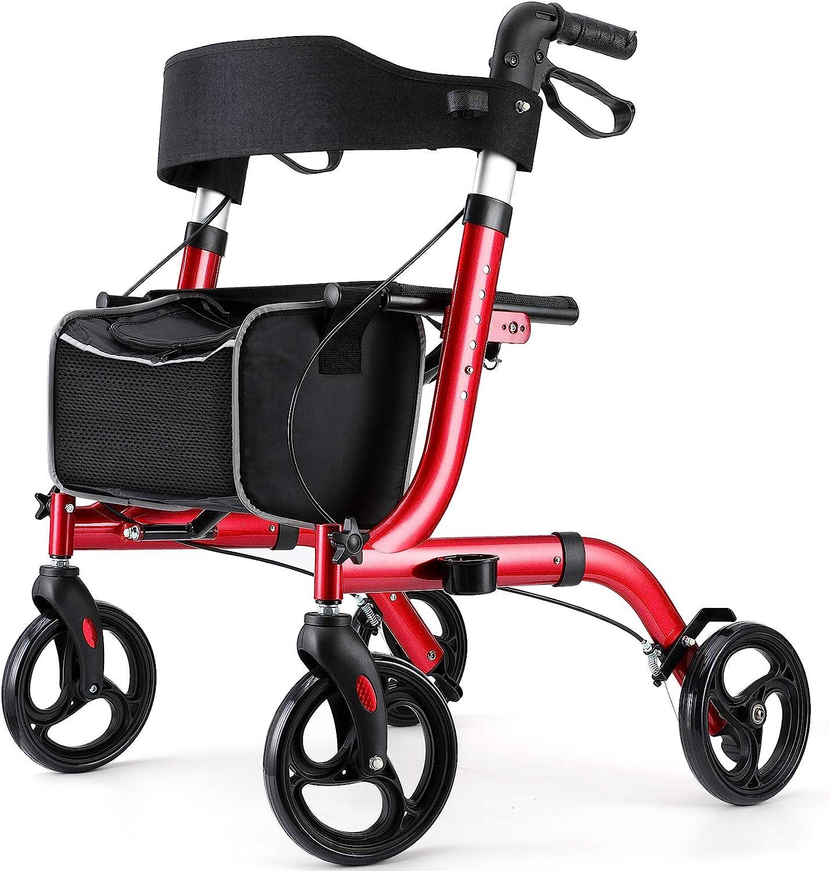 RINKMO Rollator Walkers for Seniors- Rollator Walker with Seat 8