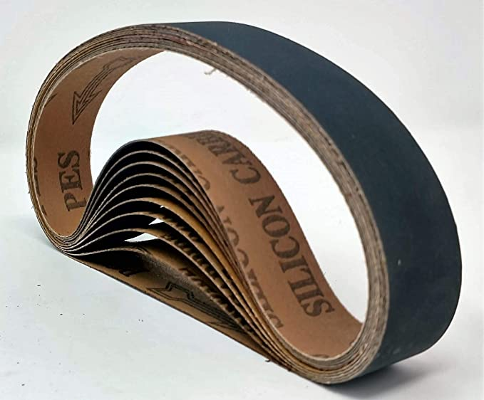 Aluminum Oxide Very Fine Sanding Sharpening Belts - 1200 Grit 10 Pack 1x30 25mm x 762mm