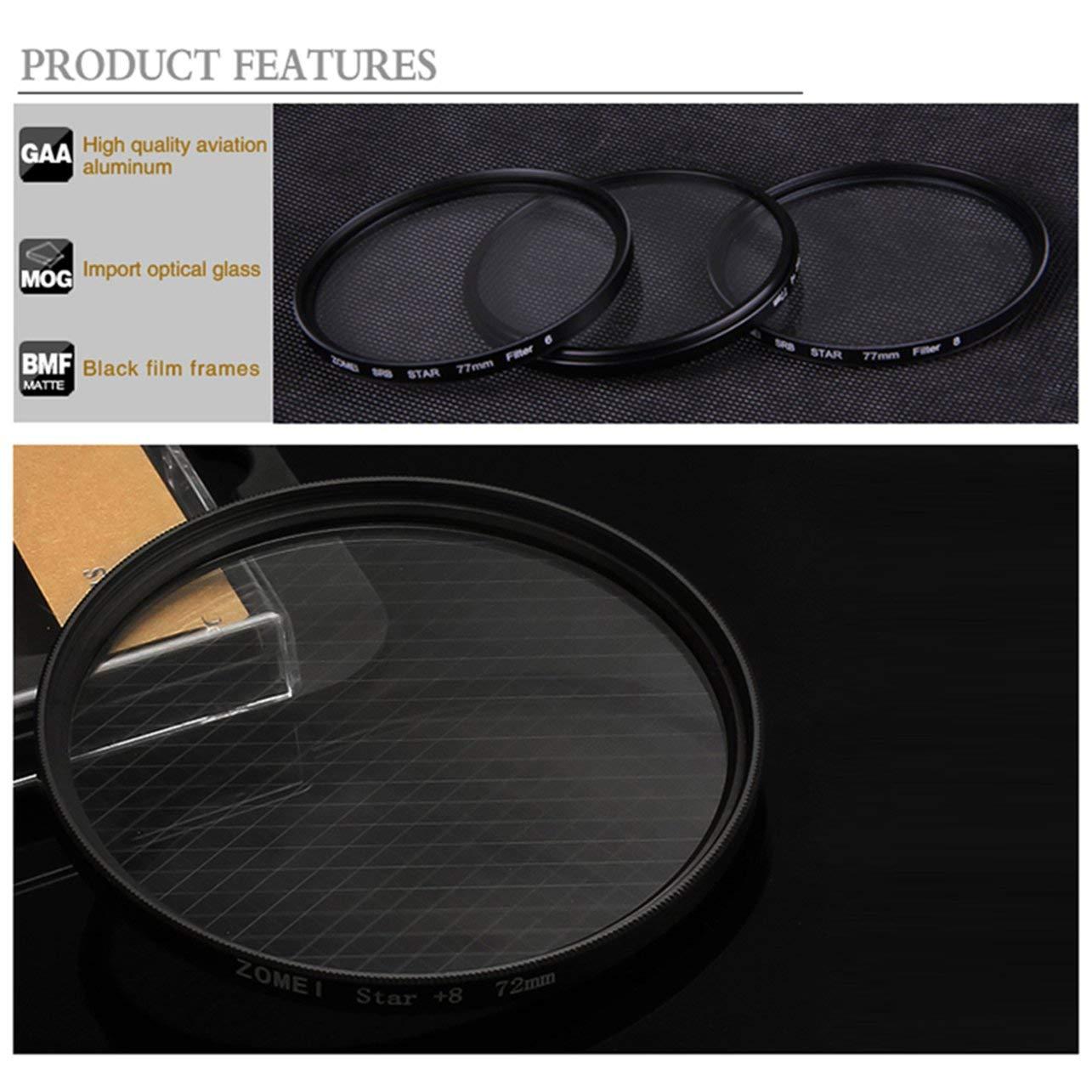 Filtrer 6 Lignes ZOMEI Star Filter Perfect Lens Professional Point Lens (Couleur: Noir) WOSOSYEYO