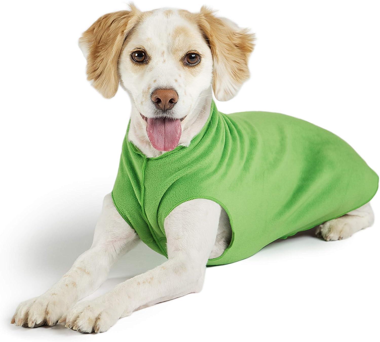 Sizes 2-30 Size 2 Gold Paw Stretch Fleece Dog Coat Stretchy Pet Sweater Machine Washable Soft Black Eco Friendly Warm Dog Clothes All Season