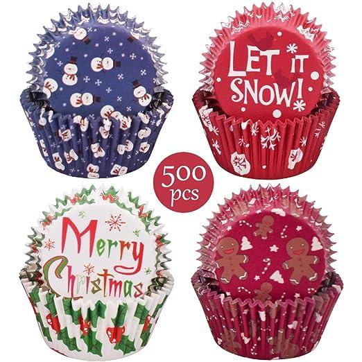 Moldes de papel para magdalenas - WENTS 500pcs Capsulas Cupcakes ...
