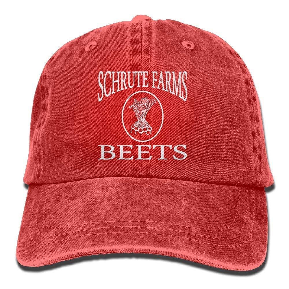 Schrute Farms Beets Retro Washed Dyed Cotton Adjustable Denim Cap Low Profile JTRVW Cowboy Hats