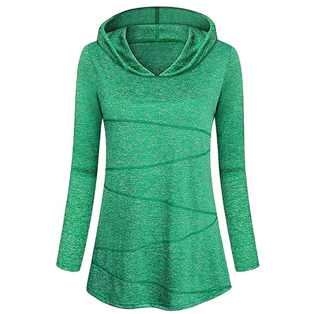 friendGG Womens Fahsion Blouse Long Sleeves Yoga Tops Activewear Running Workout T-Shirt Ladies Hoodies Jumper Solid Sweatshirt Pullover Casual Hooded Autumn Winter Blouse Tops