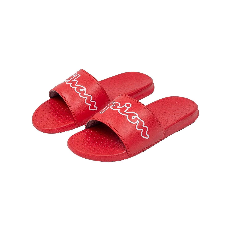 1988c9032 Amazon.com   Champion Men's Super Split Script Slide   Sandals