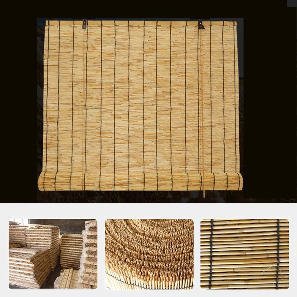 Rideau De Roseau,Ombre,Isolation Thermique,La Ventilation,Store en Bambou Exterieur Rideau en Bambou pour Porte XYNH Enrouleur Bambou Naturel