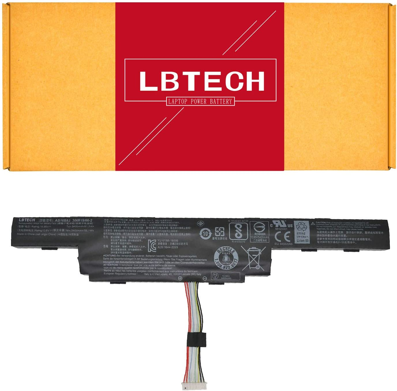 LBTECH AS16B8J AS16B5J Compatible Laptop Battery Replacement for Acer Aspire E5-575G-53VG Series Laptop 15.6