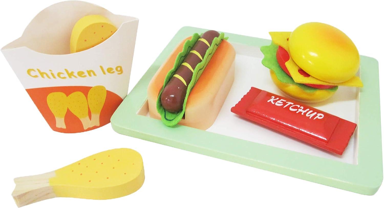 FERRY - Bandeja Fast Food de Madera, 320101, marrón: Amazon.es: Juguetes y juegos
