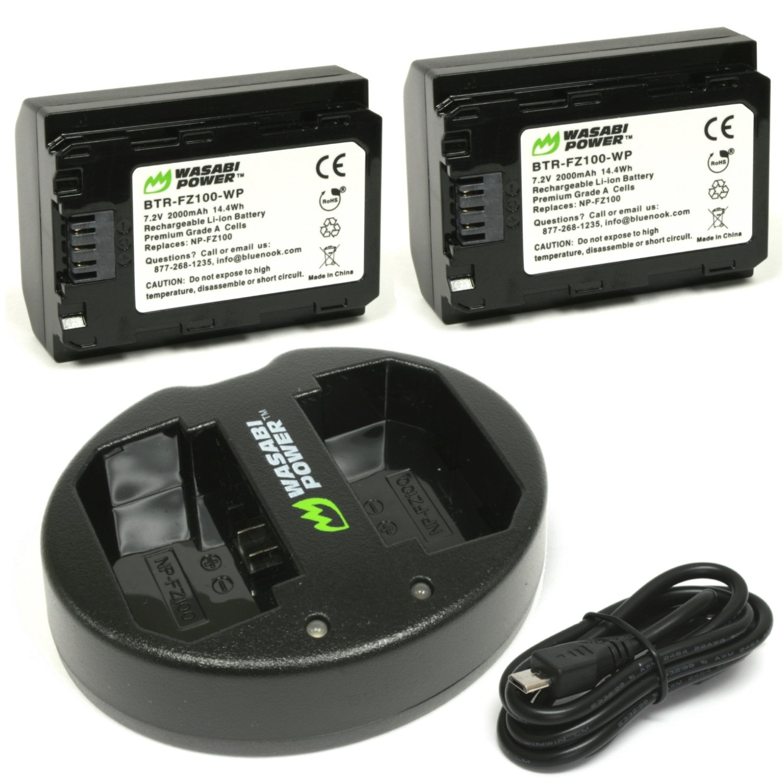 Batería de alimentación Wasabi (paquete de 2) y cargador USB ...
