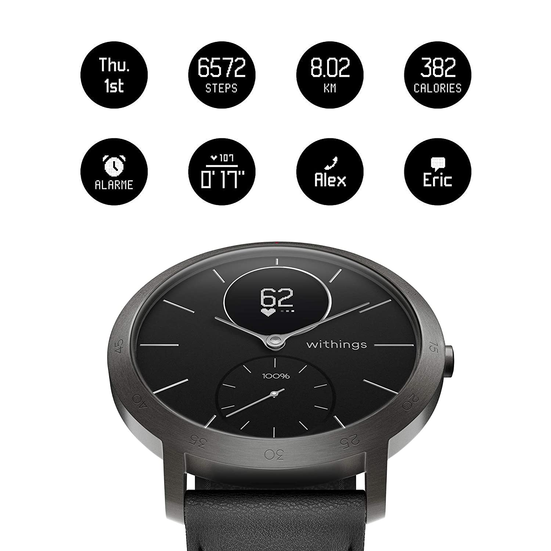 Withings / Nokia Steel HR - Reloj híbrido inteligente