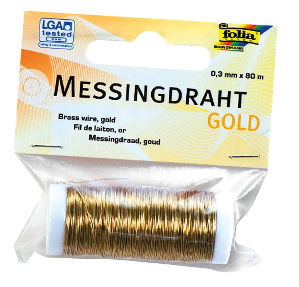 0,40 mm ø Messingdraht Basteldraht Spule 40 m