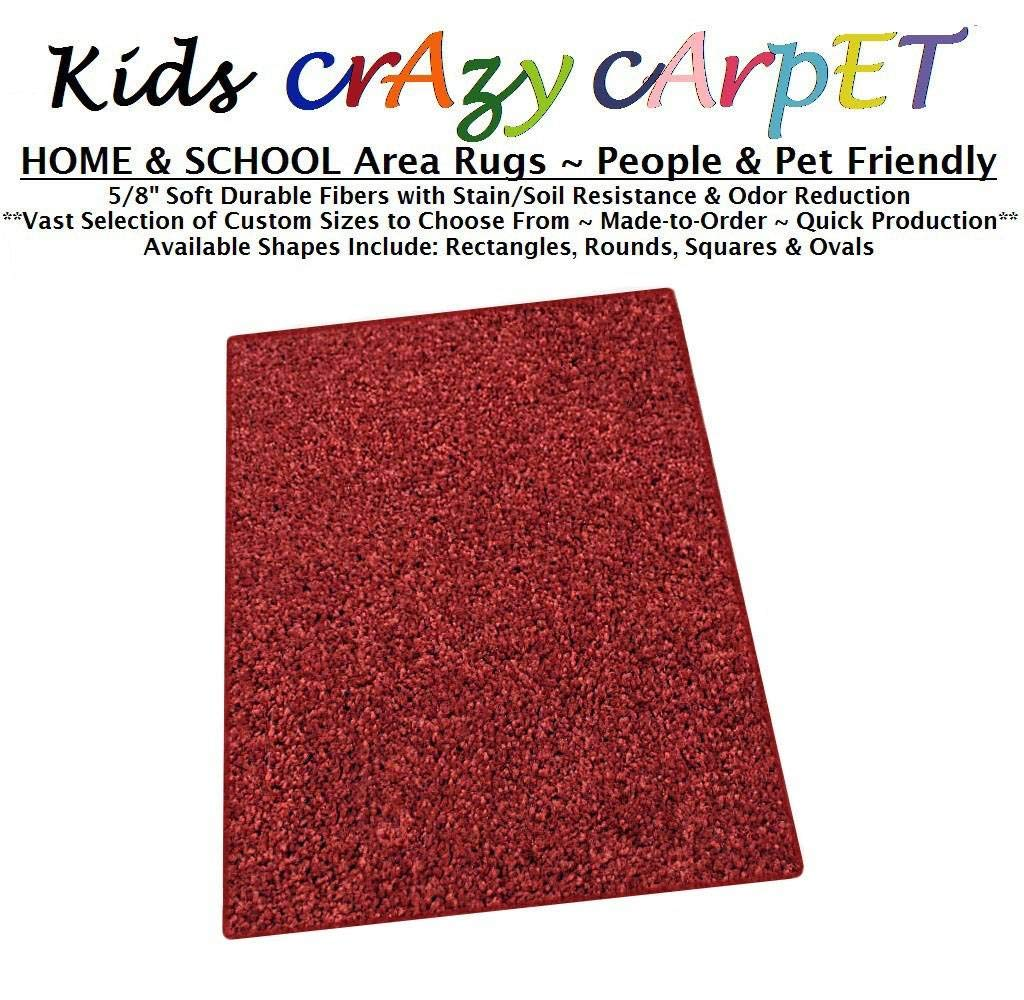 3'x5' - Dragon FIRE RED ~ Kids Crazy Carpet Home & School Area Rugs | People & Pet Friendly – R2X Stain Resistance & Odor Reduction