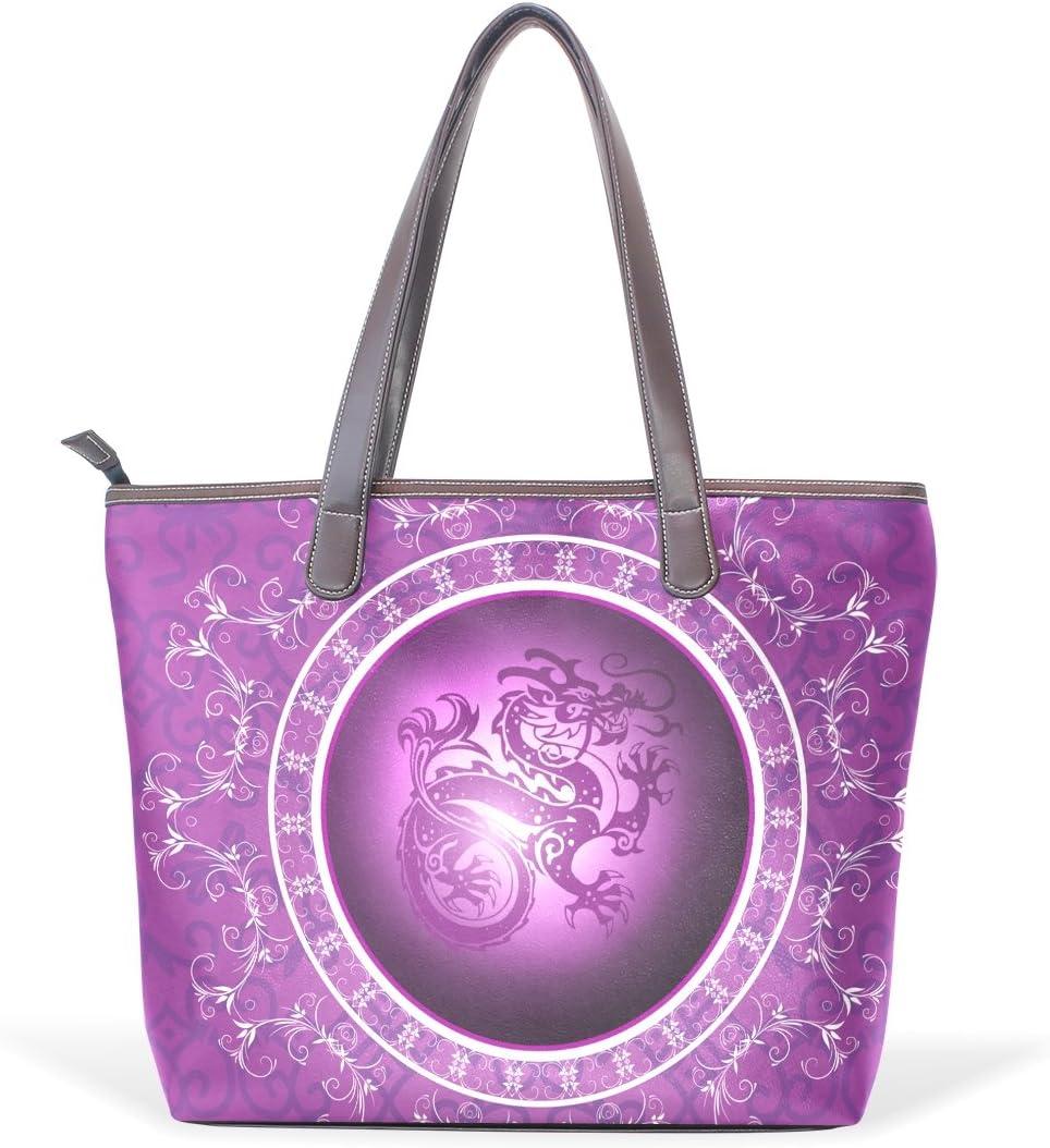 Chinese Dragon Womens Fashion Large Tote Ladies Handbag Shoulder Bag
