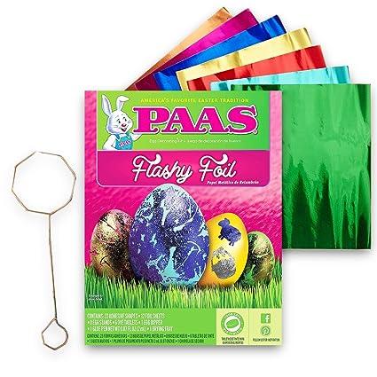 Amazon.com: PAAS Flashy Foil Easter Egg Dye Kit: Toys & Games