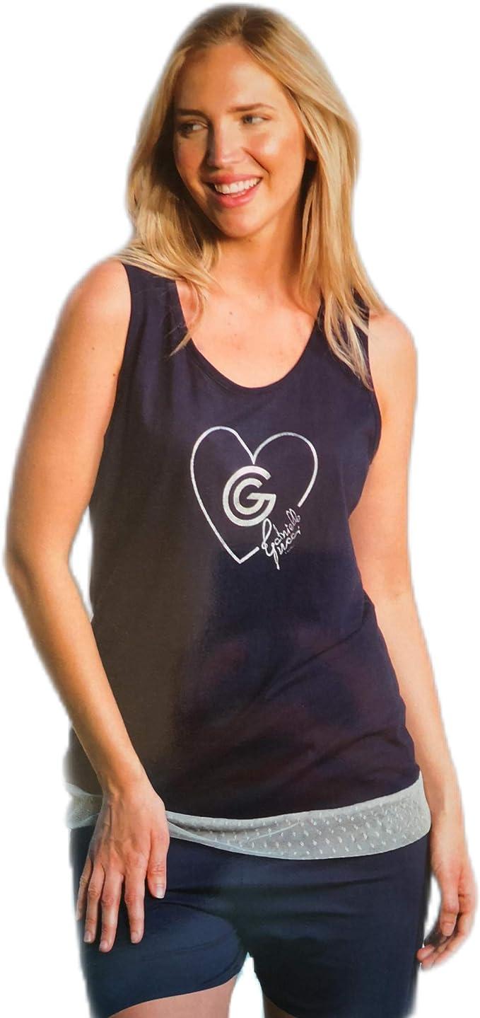 Pijama DE Mujer EN ALGODÓN, con Camiseta DE Tirantes Anchos Y PANTALÓN Corto (S): Amazon.es: Ropa y accesorios