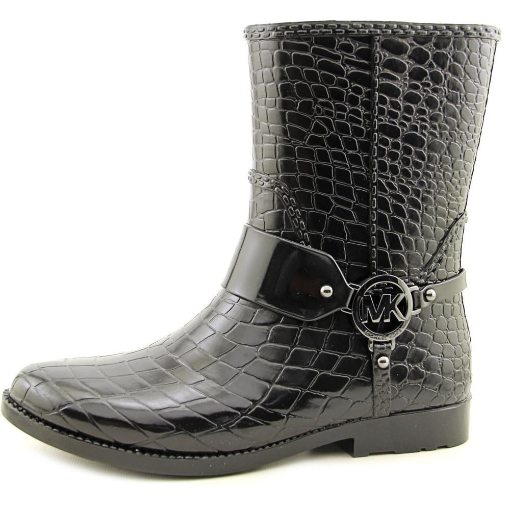 7a6f81080ac Michael MICHAEL KORS MK Croco Rain Bootie Bottes Femmes Noir - 36 - Bottes  de Pluie  Amazon.fr  Chaussures et Sacs