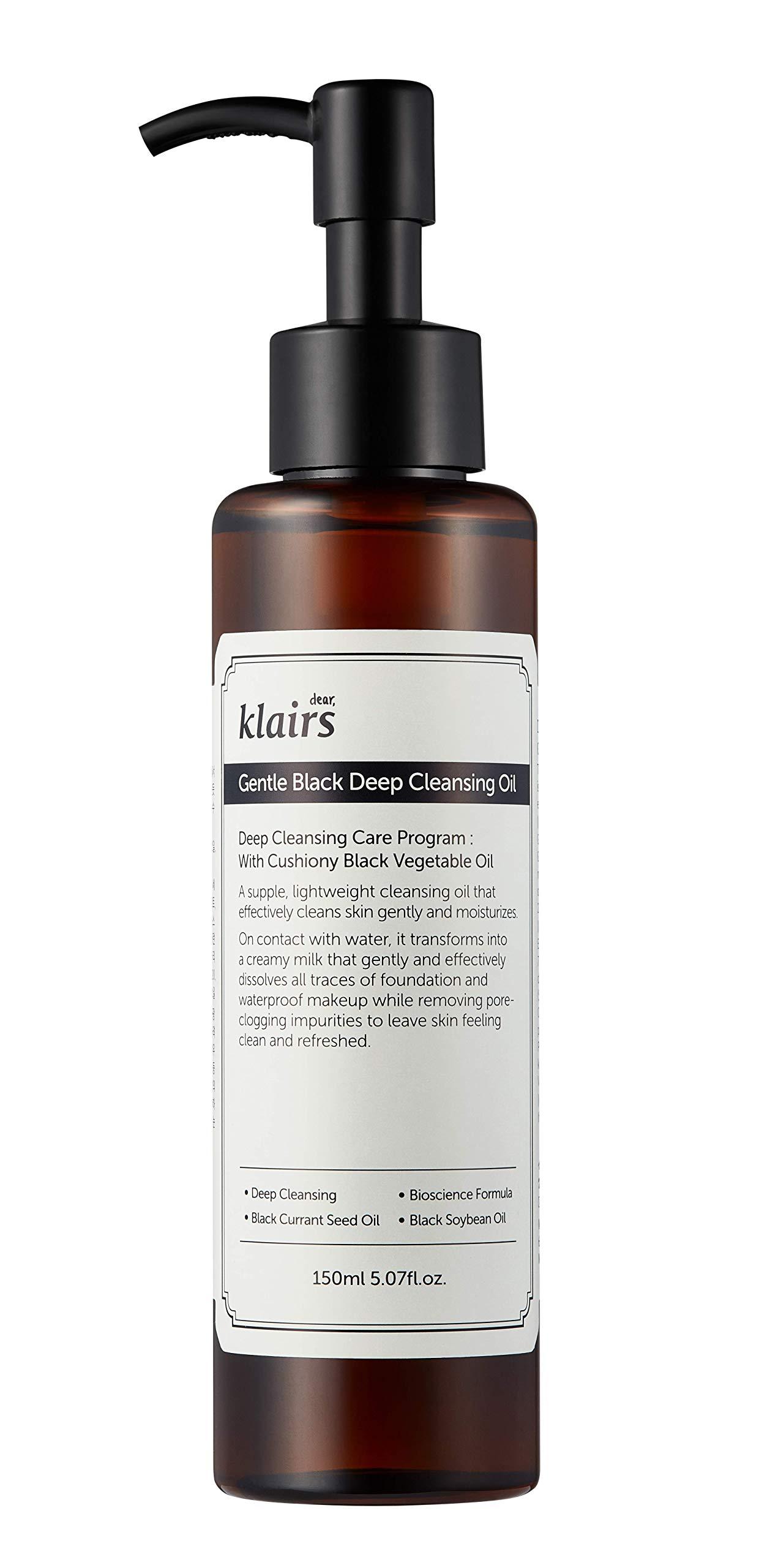 [KLAIRS] Gentle Black Deep Cleansing Oil,make up cleansing oil, cleanser, 150ml, 5.07oz