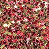 Confetti World Cup 2018 - Star 1/4'' Red, Gold for Spain, Espana - 1/4 POUND - 25,000 PIECES - CCP6106 - Free Ship