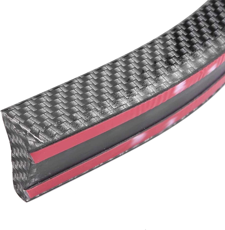 Spoiler Trasero 1,5 m//4,9 pies Estilo de Fibra de Carbono Kit de Pegatina de Labios de aler/ón de Techo Trasero de Coche Universal BLLBOO Spoiler