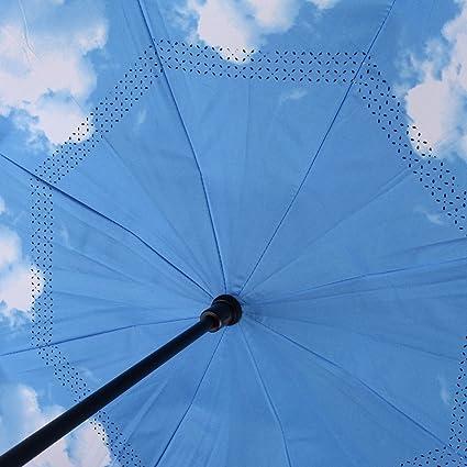 Ynebwcie Paraguas invertido Capa Doble Parasol para el Sol Lluvia para Mujer Paraguas invertido Guarda para Hombre A Prueba de Viento as pic1: Amazon.es: Hogar