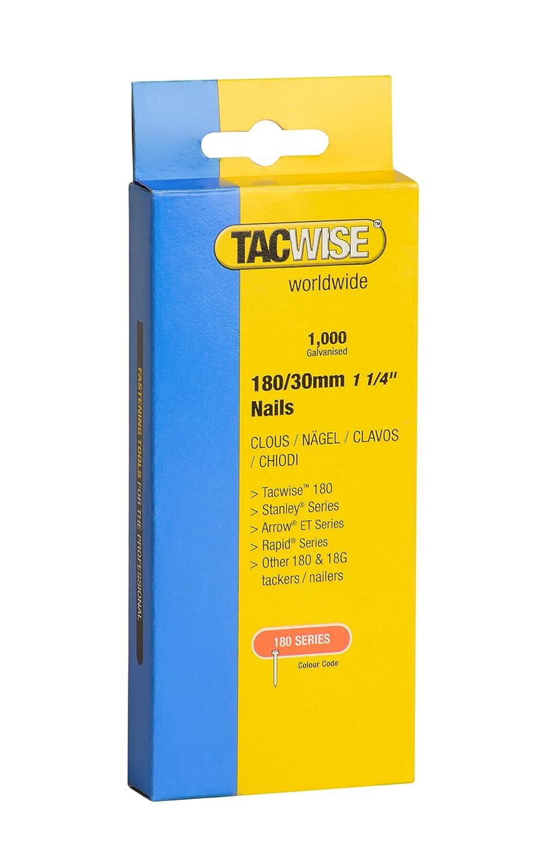 30 mm Set Piezas caja de 1000 unidades Tacwise 0362 Clavos de 180 x 30 mm