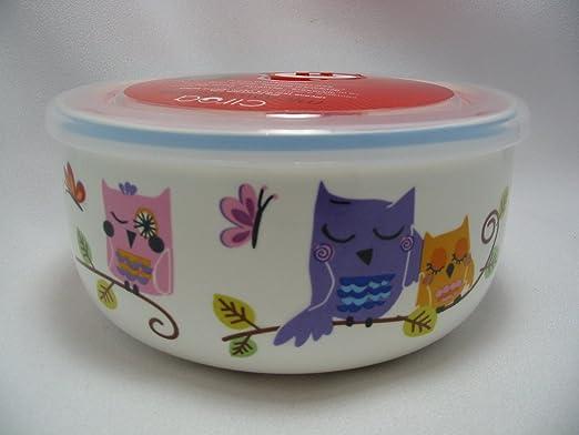 De porcelana Ciroa Microwaveme apta para microondas bol con ...