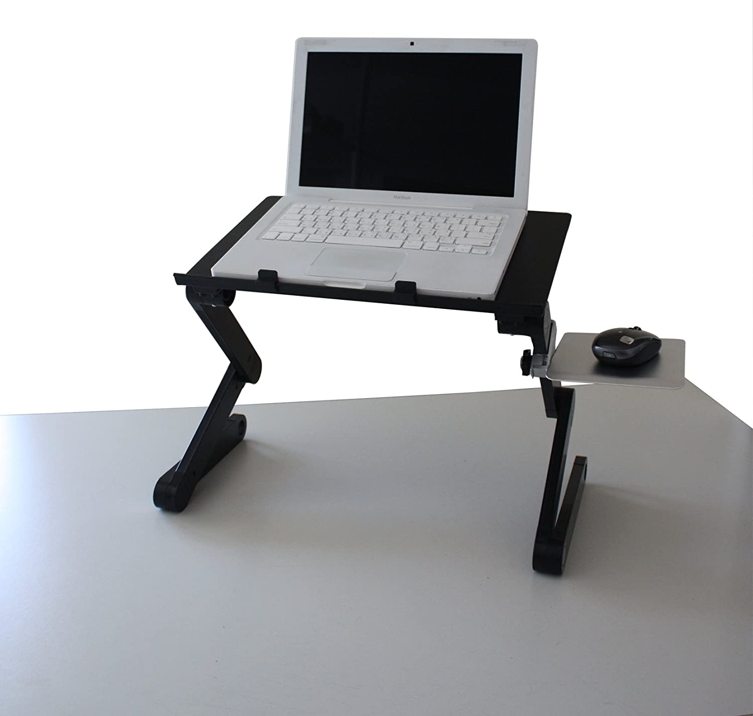 Laptop Standing Desk with Mouse Pad