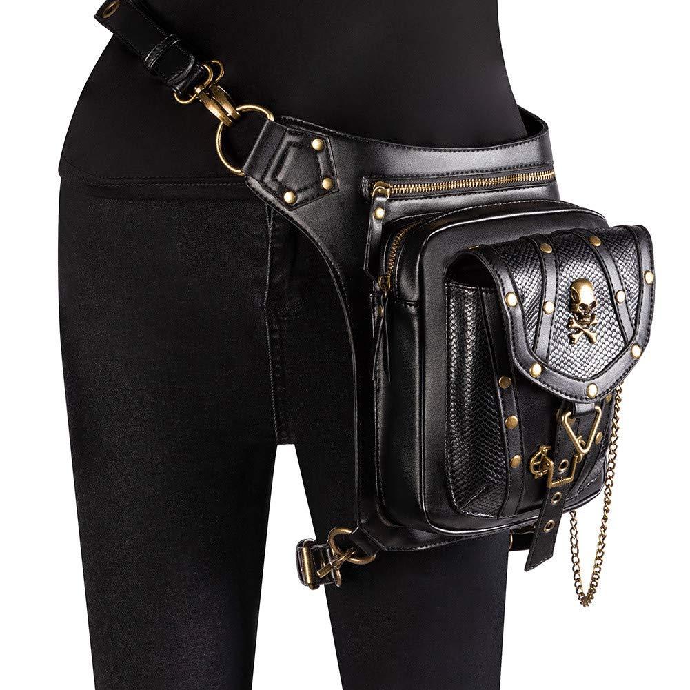 女性用ウエストポケット、スチームパンクなバッグ、アウトドア多機能クロスボディバッグ、ショルダーバッグ、ショッピングに最適、ウォーキング、旅行