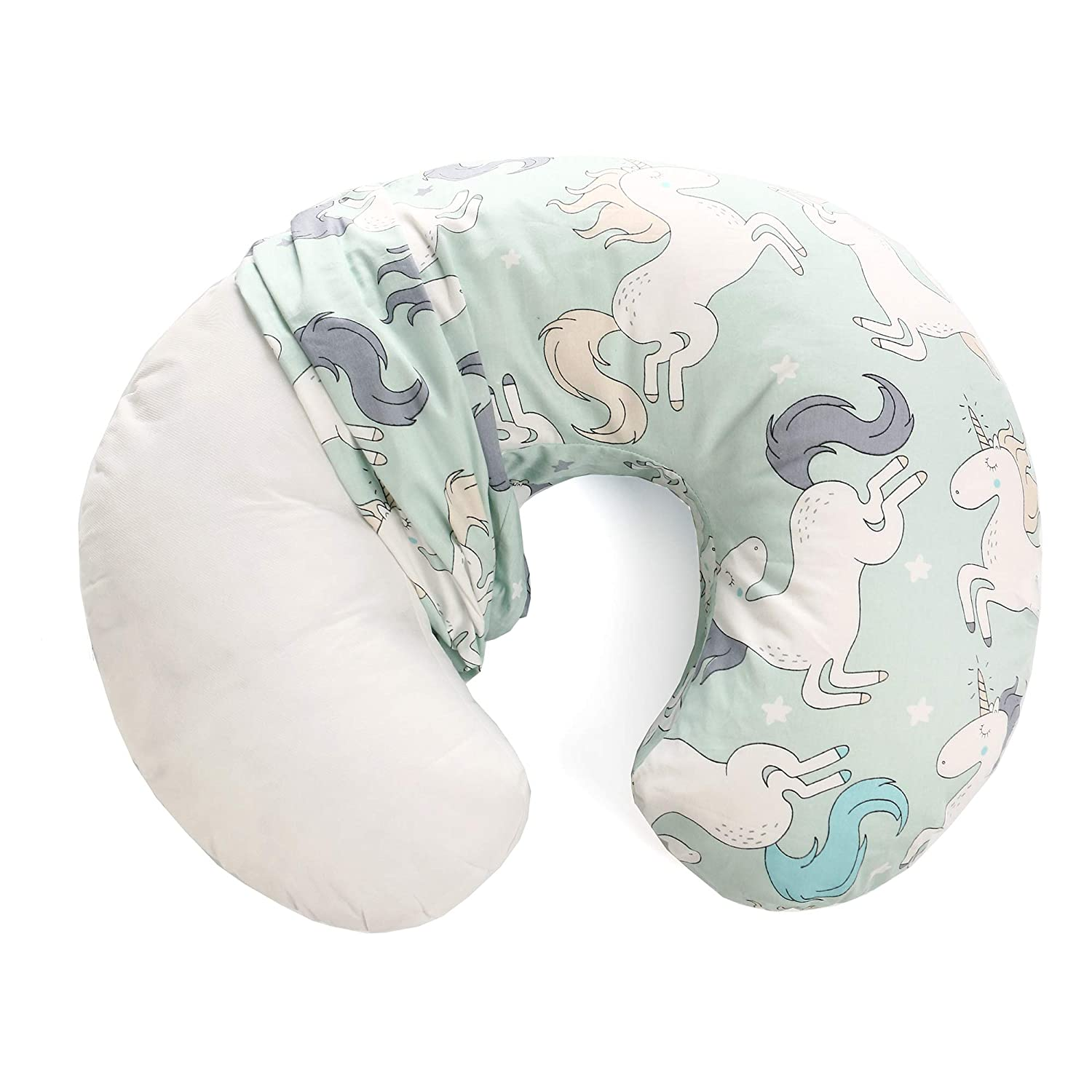 Grey Unicorn Only Designed for Miracle Baby Nursing Breastfeeding Pillows Baby Nursing Pillow Slipcover